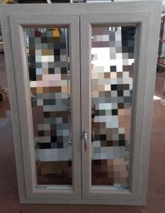 FINESTRA PVC 2 ANTE DX ROVERE SBIANCATO CON CERNIERE A SCOMPARSA, L101,5 X H152 €375,12 POSA E TRASPORTO ESCLUSI