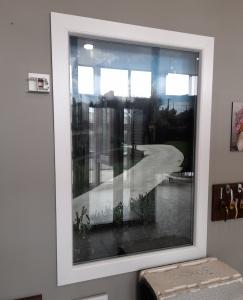 Fisso in PVC bianco frassino effetto legno, misure L104x h154 €185,32 POSA E TRASPORTO ESCLUSI